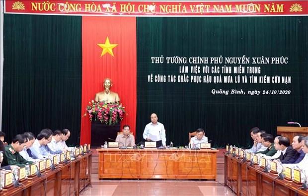 Thu tuong Chinh phu Nguyen Xuan Phuc: Tao dieu kien thuan loi cho cac hoat dong tai tro nhan dan vung lu hinh anh 1