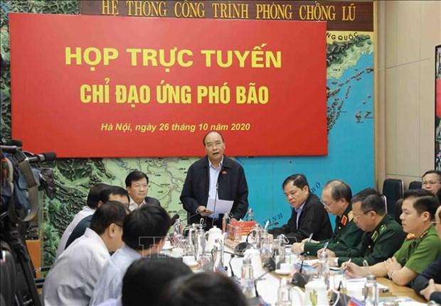 Thu tuong Chinh phu chi dao trien khai ung pho khan cap bao so 9 hinh anh 1
