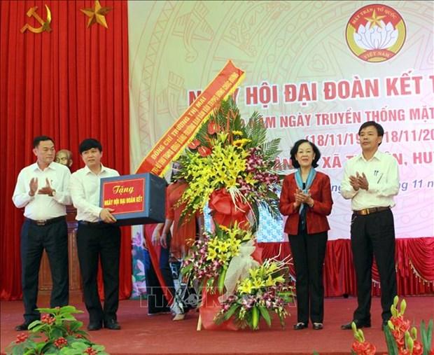 Truong ban dan van Trung uong Truong Thi Mai du Ngay hoi dai doan ket toan dan toc tai Bac Giang hinh anh 1