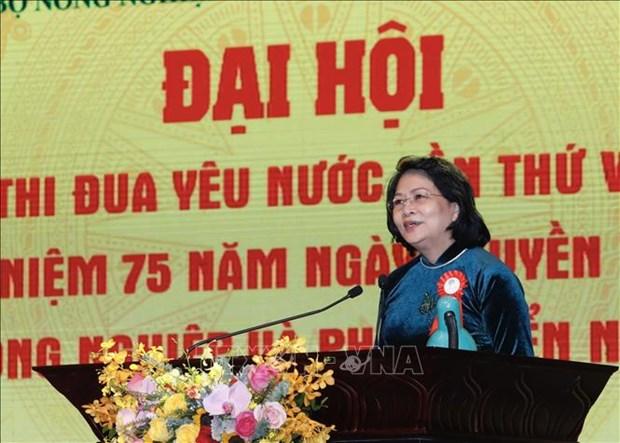 Pho Chu tich nuoc Dang Thi Ngoc Thinh: Phan dau xay dung nen nong nghiep thinh vuong, nong dan giau co, nong thon van minh, hien dai va an toan hinh anh 1
