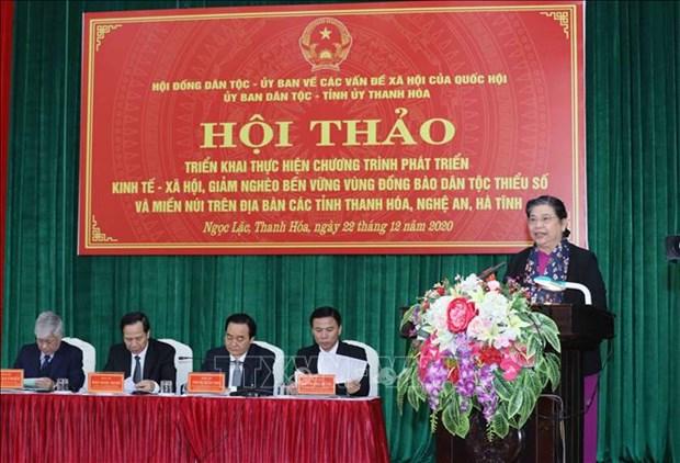 Pho Chu tich Quoc hoi Tong Thi Phong: Giai quyet tinh trang thieu dat o, nha o, dat san xuat, nuoc sinh hoat cho dong bao dan toc hinh anh 1