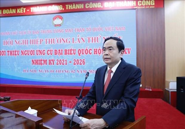 Doan Chu tich Uy ban Trung uong Mat tran To quoc Viet Nam to chuc Hoi nghi hiep thuong lan thu nhat hinh anh 3