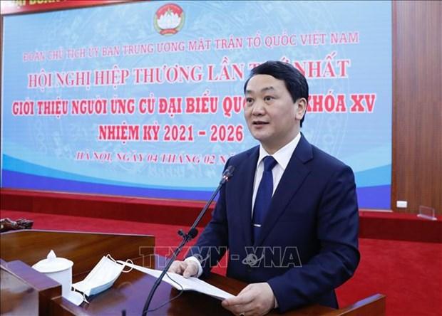 Doan Chu tich Uy ban Trung uong Mat tran To quoc Viet Nam to chuc Hoi nghi hiep thuong lan thu nhat hinh anh 4