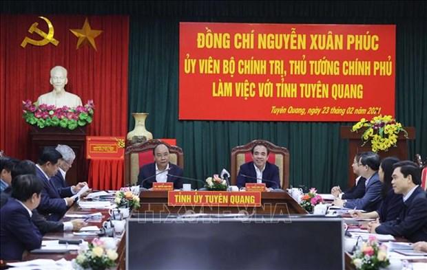 Thu tuong Nguyen Xuan Phuc: Tuyen Quang phai tro thanh trong diem cua nganh che bien go hinh anh 1