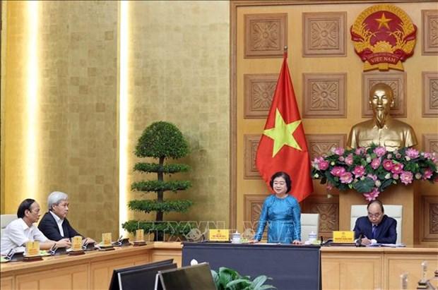 Thu tuong Nguyen Xuan Phuc gap go dai bieu Quy Hoc bong Vu A Dinh hinh anh 2