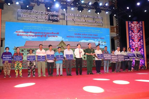 Pho Chu tich Thuong truc Quoc hoi Tran Thanh Man du Tet quan dan mung Chol Chnam Thmay 2021 tai Can Tho hinh anh 3
