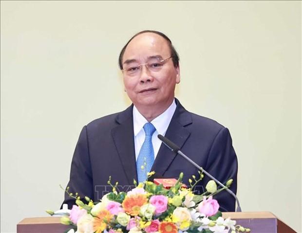 Chu tich nuoc Nguyen Xuan Phuc trao tang danh hieu cao quy cho cac nha khoa hoc xuat sac hinh anh 1