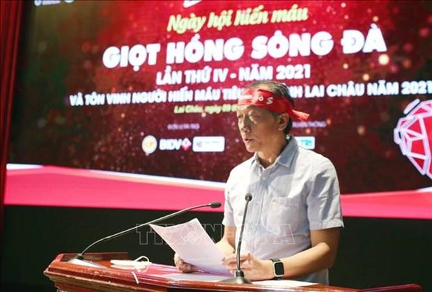 Hanh trinh Do lan thu IX tai Lai Chau: Hon 2.300 tinh nguyen vien tham gia hien mau hinh anh 1