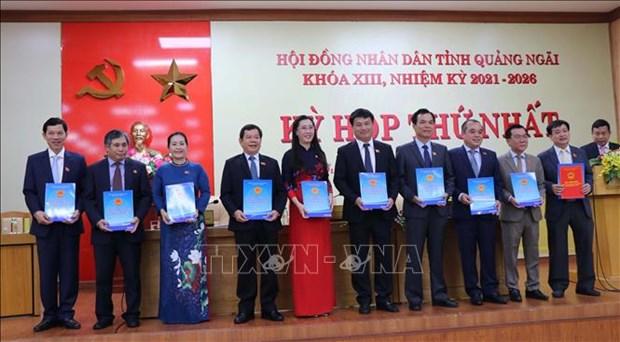 Bau lanh dao HDND va UBND tinh Quang Ngai nhiem ky 2021-2026 hinh anh 2