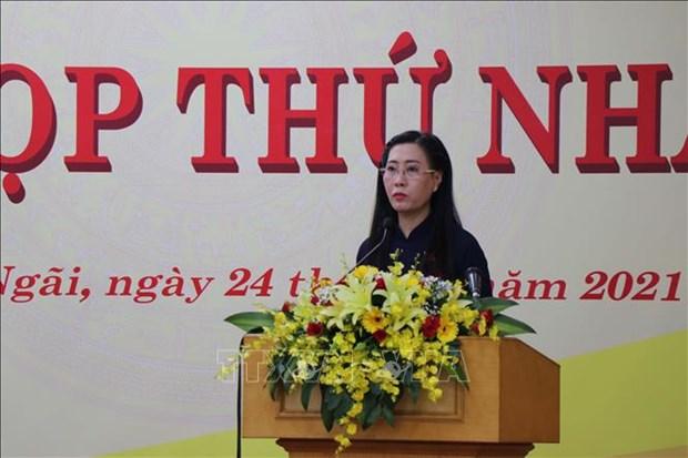 Bau lanh dao HDND va UBND tinh Quang Ngai nhiem ky 2021-2026 hinh anh 1