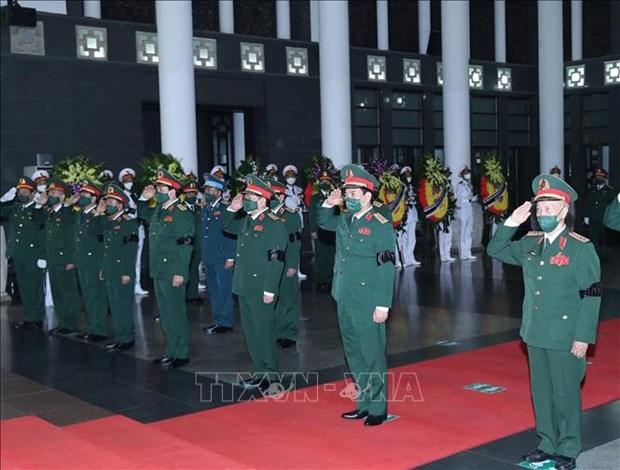 To chuc trong the Le tang Dai tuong Phung Quang Thanh, nguyen Bo truong Bo Quoc phong hinh anh 5
