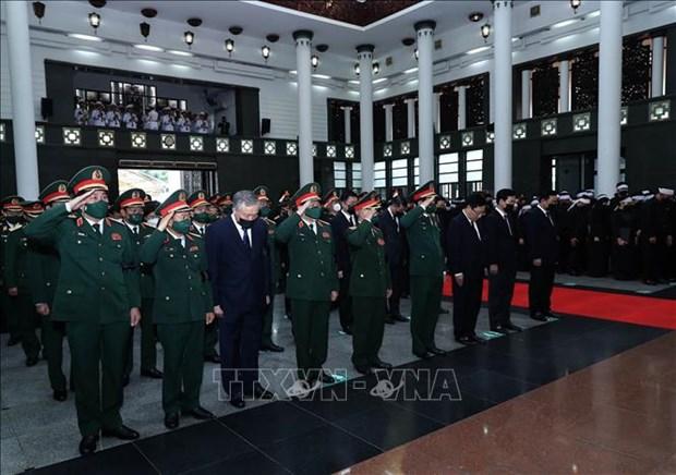 To chuc trong the Le tang Dai tuong Phung Quang Thanh, nguyen Bo truong Bo Quoc phong hinh anh 7