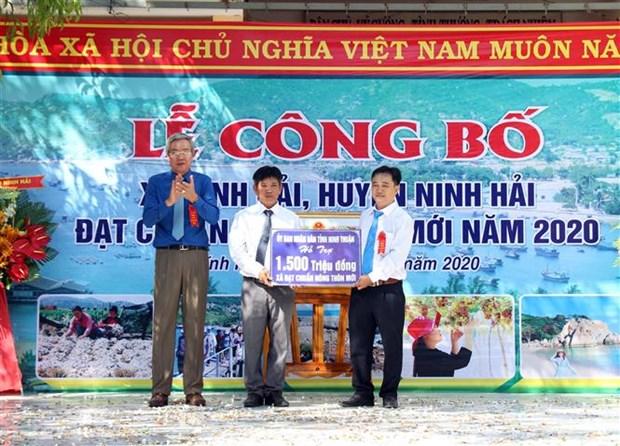 Ninh Thuan cong nhan xa dac biet kho khan vung bai ngang ven bien dat chuan nong thon moi hinh anh 2