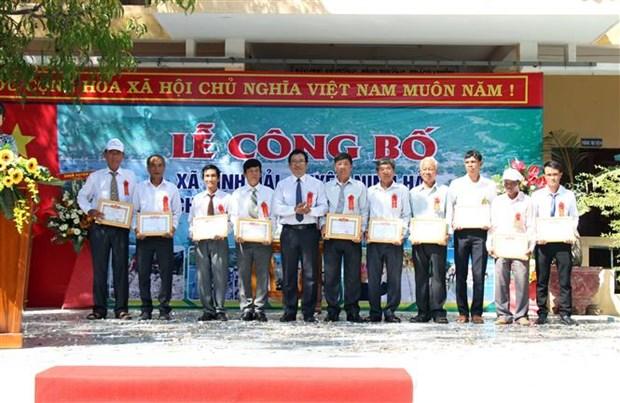 Ninh Thuan cong nhan xa dac biet kho khan vung bai ngang ven bien dat chuan nong thon moi hinh anh 3
