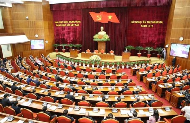 Thong bao Hoi nghi lan thu 13 Ban Chap hanh Trung uong Dang khoa XII hinh anh 1