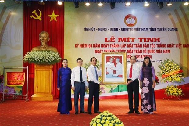 Tuyen Quang mit tinh ky niem 90 nam Ngay thanh lap Mat tran Dan toc thong nhat Viet Nam hinh anh 1