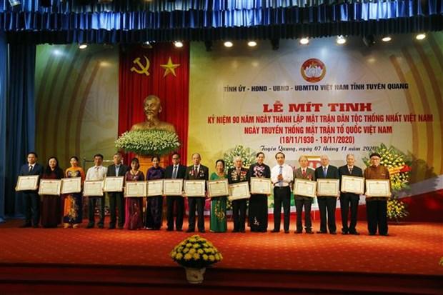 Tuyen Quang mit tinh ky niem 90 nam Ngay thanh lap Mat tran Dan toc thong nhat Viet Nam hinh anh 4