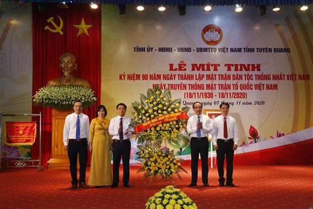 Tuyen Quang mit tinh ky niem 90 nam Ngay thanh lap Mat tran Dan toc thong nhat Viet Nam hinh anh 2