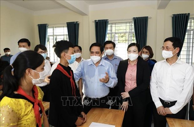 Thu tuong Chinh phu Pham Minh Chinh: Can quan tam dau tu hon nua cho vung dong bao dan toc thieu so hinh anh 1