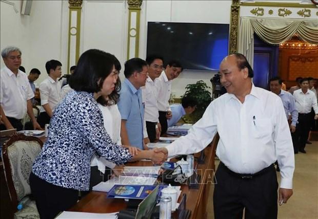 Thuong truc Chinh phu lam viec voi lanh dao chu chot Thanh pho Ho Chi Minh ve giai ngan von dau tu cong hinh anh 5