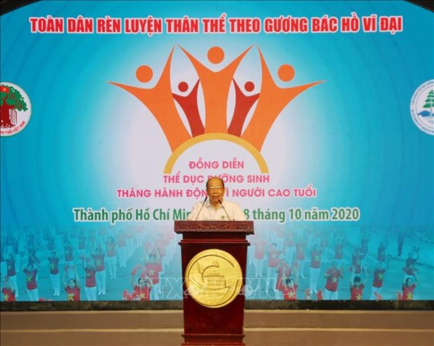 Thanh pho Ho Chi Minh: Hon 2.000 nguoi cao tuoi tham gia dong dien the duc duong sinh hinh anh 2