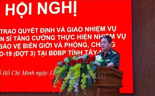 Bo doi Bien phong Thanh pho Ho Chi Minh ho tro phong, chong dich COVID-19 tai bien gioi hinh anh 1