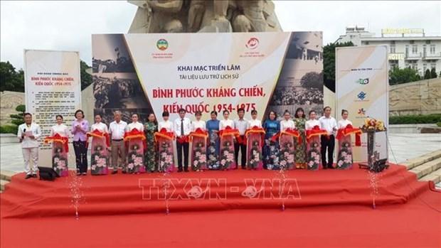 """Trien lam tai lieu luu tru lich su """"Binh Phuoc khang chien, kien quoc 1954-1975"""" hinh anh 1"""