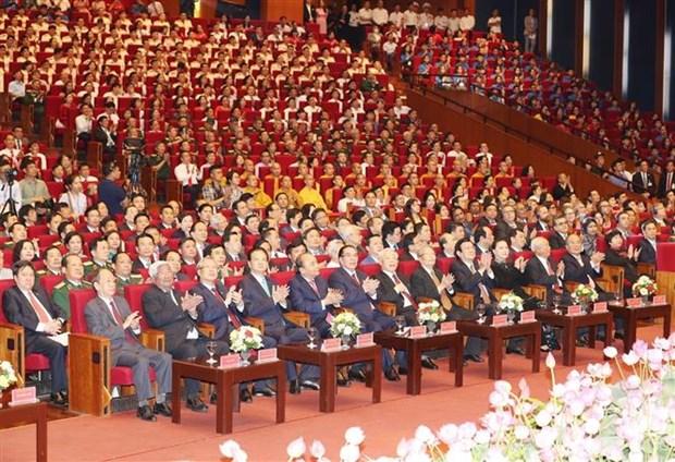 胡志明主席诞辰130周年庆典在河内隆重举行 hinh anh 1