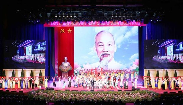 胡志明主席诞辰130周年庆典在河内隆重举行 hinh anh 2