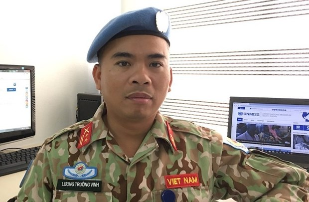 越南首位军官被联合国录用 hinh anh 1