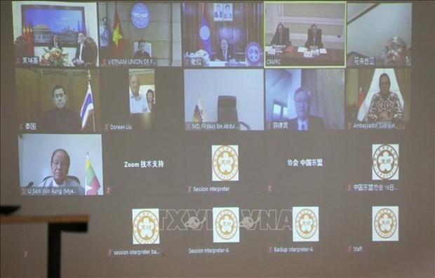 东盟与中国民间友好组织领导人特别视频会晤以视频方式召开 hinh anh 1