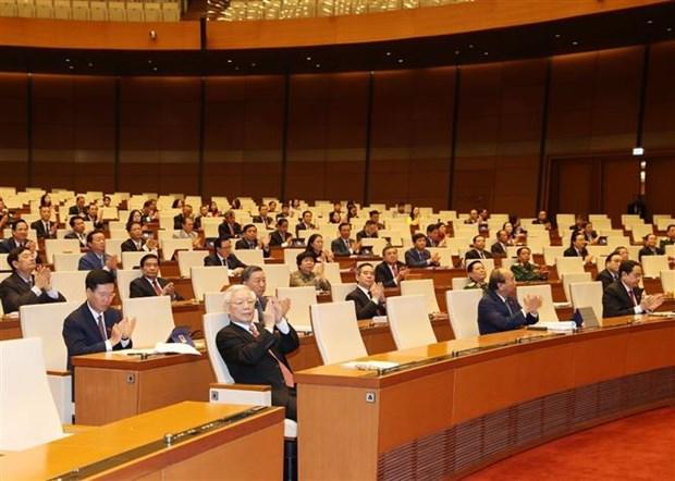 第十四届国会第九次会议开幕: 为国家度过困难 向前迈进注入动力 hinh anh 3