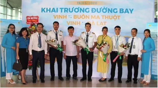 越南国家航空公司开通飞往荣市的两条航线 hinh anh 1