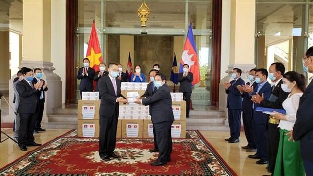 柬埔寨对越南国会捐赠防疫物资表示感谢 hinh anh 1