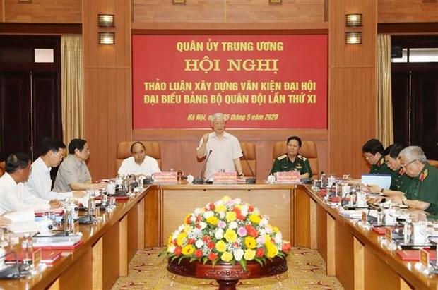 越共中央军委召开会议对越共军队第十一次代表大会文件草案提出意见 hinh anh 1