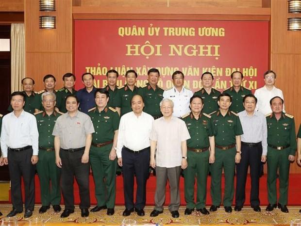 越共中央军委召开会议对越共军队第十一次代表大会文件草案提出意见 hinh anh 2