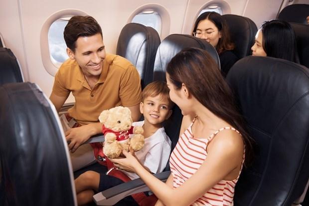 喜迎六一儿童节 越捷航空推出200万张特价机票 hinh anh 1