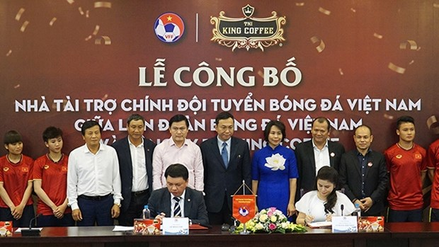 TNI - King Coffee有限公司成为越南国足队的赞助商 hinh anh 1