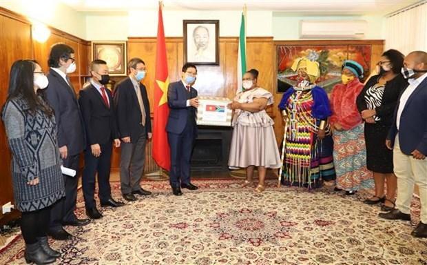 越南驻南非大使馆助力南非人民做好疫情防控工作 hinh anh 2