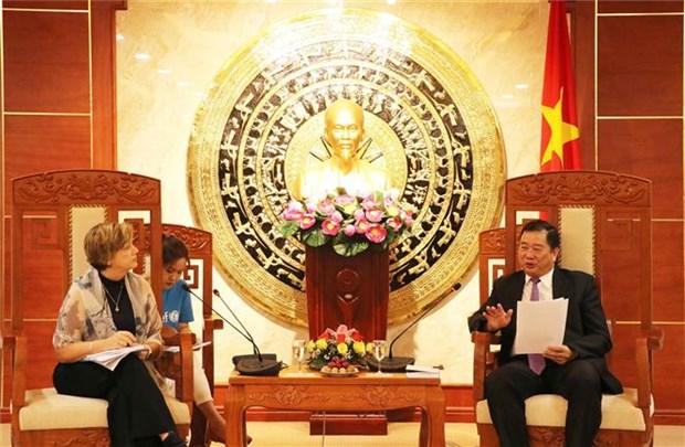 联合国儿童基金会驻越南代表处愿意协助金瓯省解决由自然灾害和疫情造成的困难 hinh anh 2