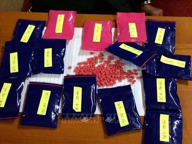 乂安省:抓获一名私藏3000粒合成毒品嫌疑人 hinh anh 1