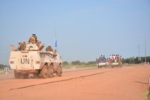 越南参加南苏丹维和任务之旅:随同军事观察员参加巡逻活动 hinh anh 1