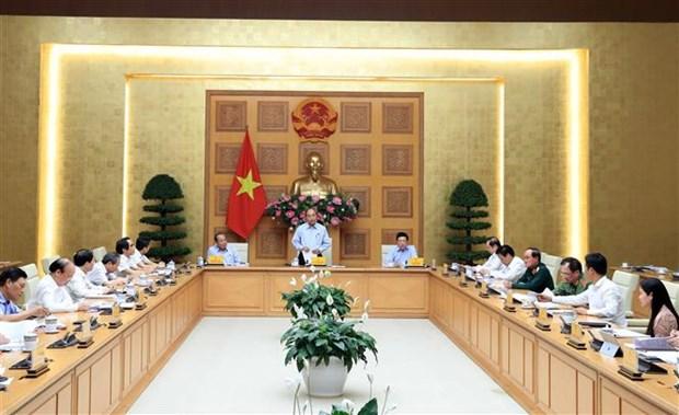 阮春福总理主持工资制度改革会议 hinh anh 2