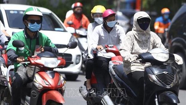 越南北部炎热天气或将持续数日并成为自1993年以来最长连续炎热时间 hinh anh 1