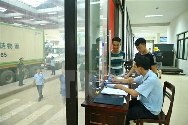 谅山省友谊国际口岸海关支局对近100起海关违法行为进行处罚 hinh anh 1