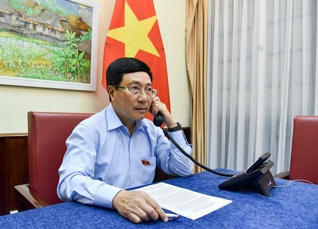 政府副总理兼外交部长范平明与瑞士外长卡西斯举行电话会谈 hinh anh 1