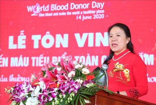 2020年越南全国100名献血积极分子第14次表彰会在河内举行 hinh anh 2