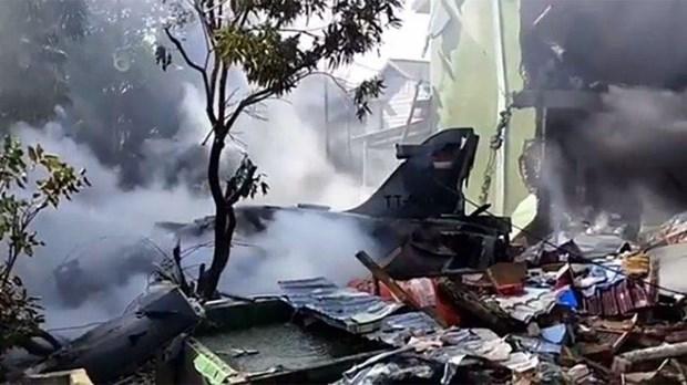 印尼一架战斗机坠毁 飞行员成功弹射逃生 hinh anh 1