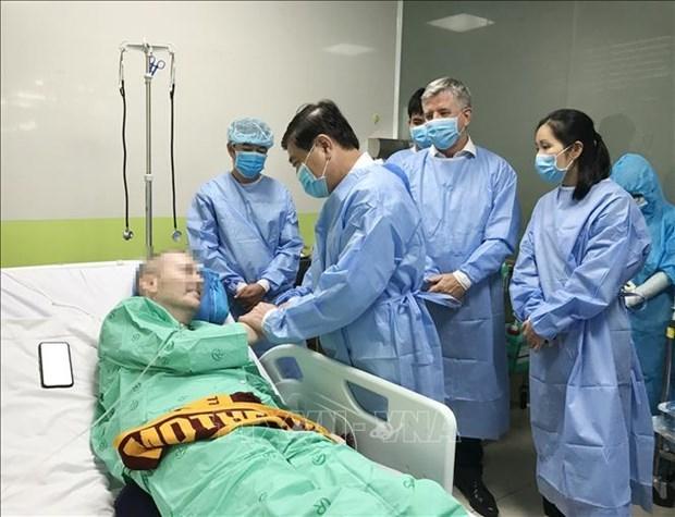 第91号患者身体状况恢复良好对医务人员表达诚挚的感谢 hinh anh 1