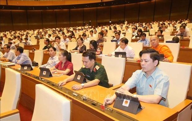 越南第十四届国会第九次会议通过两项决议和两部法律 hinh anh 1
